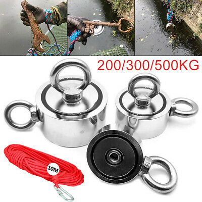 Strong Power Round Neodymium Magnets Rope Hook for Fishing Rescue Equipments