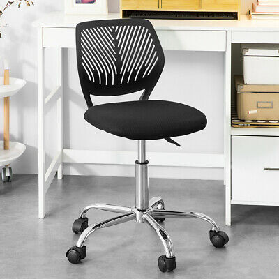 SoBuy® Adjustable Swivel Office Study Chair with Plastic High Back,FST64-SIL,UK