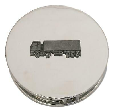 Articulated Lorry Chrome Plated Magnifying Glass Desktop Driving Gift 446