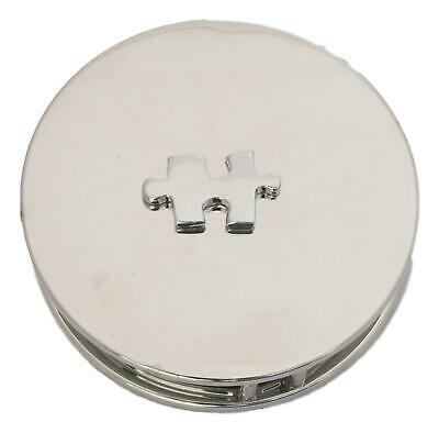 Jigsaw Chrome Plated Magnifying Glass Desktop Puzzle Gift 456
