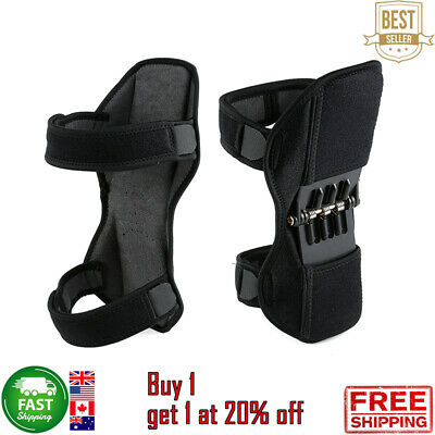 Pair Power Knee Stabilizer Pad Lift Joint Support Powerful Rebound Spring  007CA