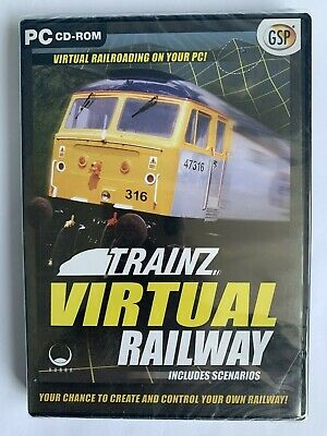 TRAINZ VIRTUAL RAILWAY Pc Cd Rom FAST DISPATCH - £2 99
