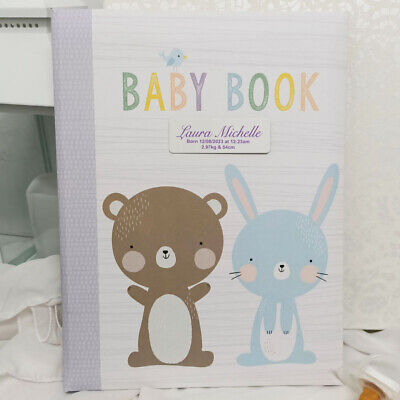 Baby 5yr Record Book - Personalised Plaque - Personalised Custom Gift