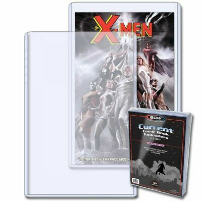 COMIC TOPLOAD HOLDER x 10 CURRENT SIZE (BCW SUPPLIES) TOPLOADER