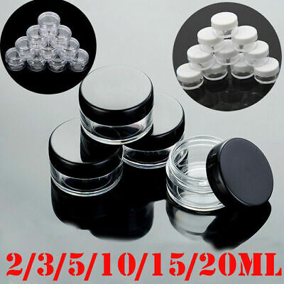 2/3/5/15/20g Sample Bottle Cosmetic Makeup Jar Pots Cream Lip Balm Container UK