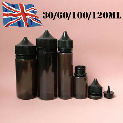 30/60/100/120ML LDPE PET Dropper Bottle Liquid Juice e Vape Plastic Container UK
