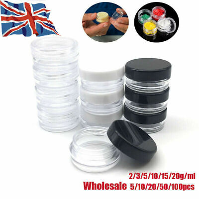 3/5/10/15/20g Empty Sample Cosmetic Makeup Jar Pot Cream Lip Balm Container UK