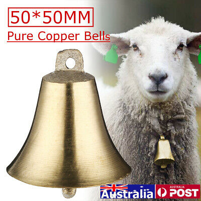 Bell Super Loud Sheep Dog Cat Cow Horse Animal Farm Pure Copper Bells Decor ♬