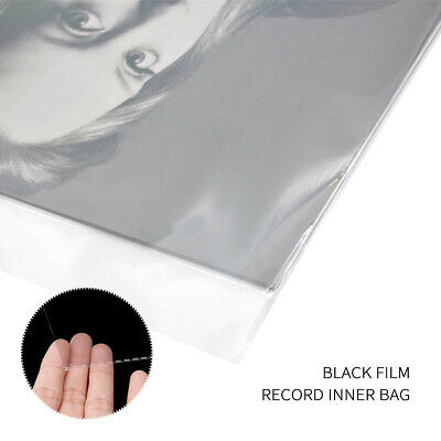 100Pcs Plastic Clear Sleeves Record Outer Cover For 12'' LP LD Vinyl Music ♬