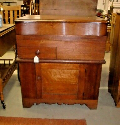 Walnut Commode Washstand Lift Top Antique