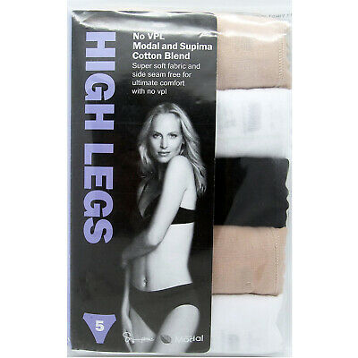 M&S High Legs 5 Pack No Vpl Microfibre High Rise Full Briefs Marks And Spencer