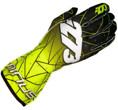 Go Kart Minus 273 Gloves Poly Evo Fluro Yellow / Black XS