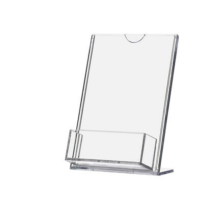 TRU-Vu® Sign Holder 4 x 6 Inch with Business Card Pocket Clear Acrylic Qty 24