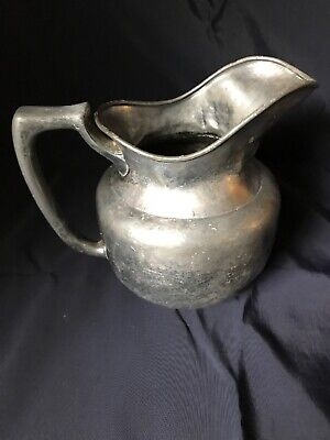 Vintage Antique Kenilworth Silver Plated Milk Pitcher Tons Of Character