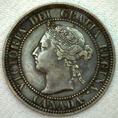 1882 H Canada Large Cent 1c Copper Canadian One Cent Coin YG You Grade K64