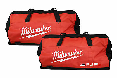 Milwaukee 22 Inch Heavy Duty Contractor Fuel Tool Bag 2 Pack. 6 Interior pockets
