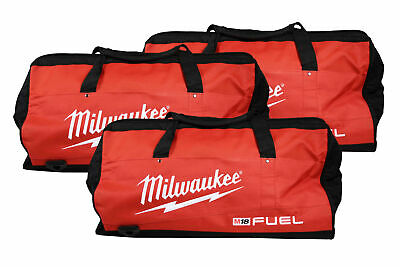 Milwaukee 22 Inch Heavy Duty Contractor Fuel Tool Bag 3 Pack. 6 Interior pockets