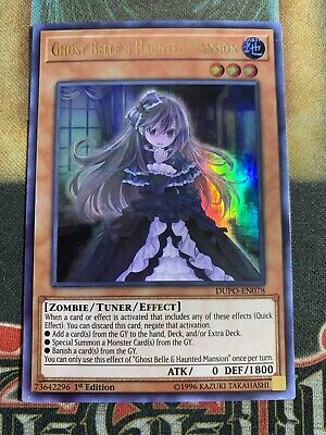 Yugioh Ghost Belle & Haunted Mansion DUPO-EN078 Ultra Rare 1st Edition