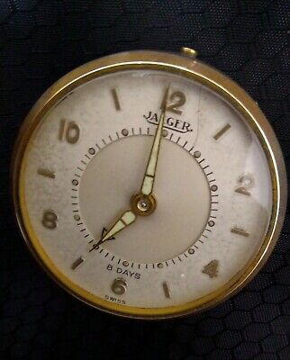 Vintage JAEGER Memovox 8 Day Alarm Clock Swiss Made for parts or repair ( as is)