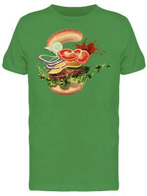Hamburger With Ingredients Men's Tee -Image by Shutterstock