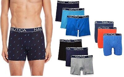 NEW Nautica Men's Boxer Briefs 3 Pack Classic Fit Stretch size L, XL