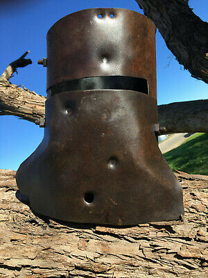 Ned Kelly helmet , Kids Size 1.2 mm steel  K5-1-519
