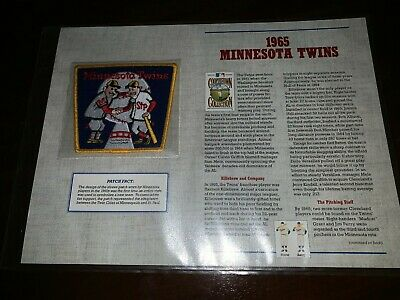 Cooperstown Baseball Replica PATCH Collection: 1965 MINNESOTA TWINS