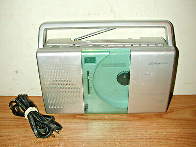Emerson Pd5098 Portable Compact Disc Player Am/Fm Radio Boombox, Works