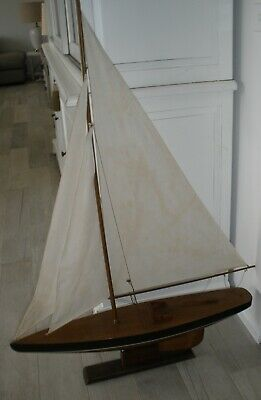 Vintage Large Timber Pond Yacht - Pick Up Vic
