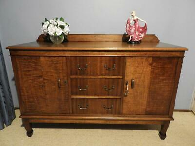 ANTIQUE VINTAGE ART DECO SIDEBOARD BUFFET DRESSER HALL DISPLAY TV CABINET 1940s