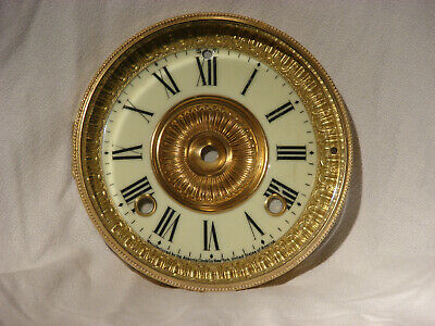 Antique Ansonia Shelf Clock Dial With Beveled Glass Bezel