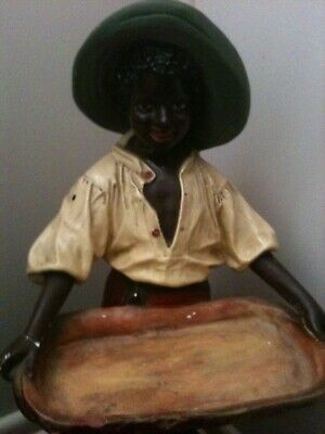 Vintage Black Boy American with tray of fruit very rare old Barsony ??