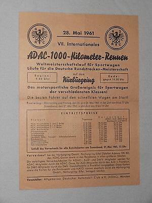 Flyer 1961 ADAC 1000 km Rennen Nürburgring Winner Maserati Tipo 61 Gregory