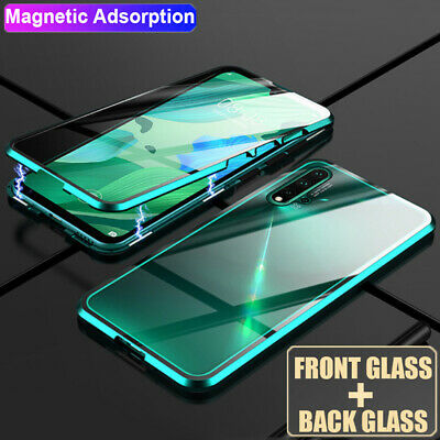 360° Magnetic Adsorption Front Rear Glass Case for Samsung Galaxy Note 10+ Cover