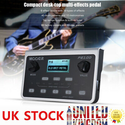 MOOER PE100 Portable Multi-effects Processor Guitar Effect Pedal 39 Effects A9S5