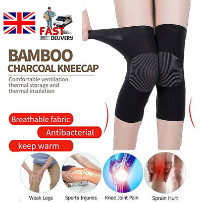2 X Knee Sleeve Support Compression Brace For Sport Joint Pain Arthritis Relief