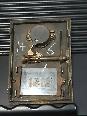 Vintage Bronze / Brass Post Office Box Combination Dial w/Spread Eagle