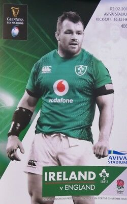 Ireland v England February 2019 Six Nations rugby match programme Aviva Stadium