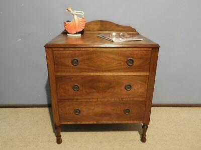 Antique Art Deco French Provincial Bedside Lamp Table Chest Of Drawers Tallboy