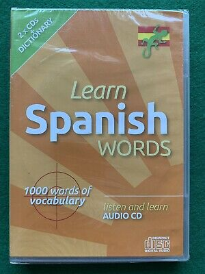 Learn Spanish Words Audio CD Lounge Lizard Publications 2 CDs New and Sealed
