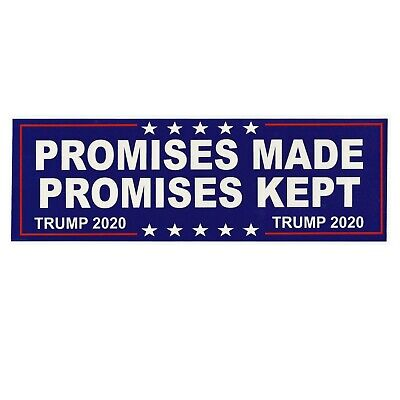 Promises Made Kept Trump 2020 President MAGA USA Window Decal Bumper Sticker