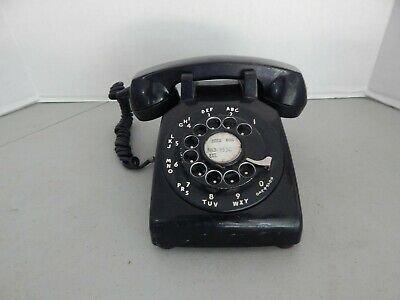 Vintage Antique Western Electric Black Rotary Desk Phone 1964 Dial 500 C/D