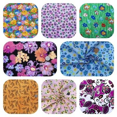 100% WIDE COTTON FABRIC SALE Clearance Vintage Patchwork Roses Dress FREE POST
