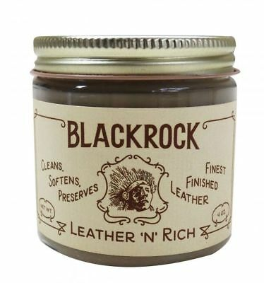 Blackrock Leather N Rich Cleaner Conditioner Preserves Fine Leather Shoes Auto