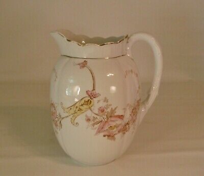 Large Antique Victorian Laughlin Eagle Over Lion Floral Melon Blossom Pitcher
