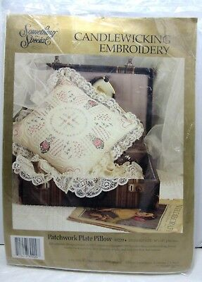 Rose Patchwork Dresden Plate Pillow Candlewicking Embroidery Kit 80220 Candamar