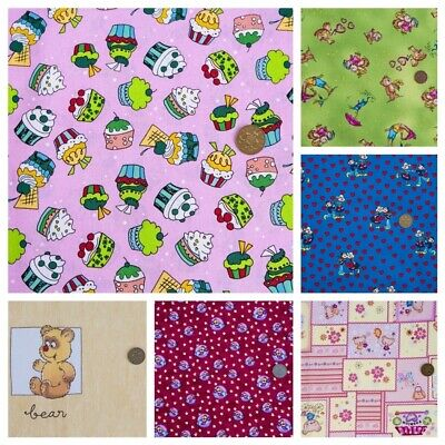 100% WIDE COTTON FABRIC SALE Clearance Vintage Patchwork Roses Dress Childrens