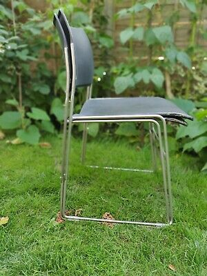 Pair of Howe 40/4 chair,  classic1960s design, stacking chairs, mid century