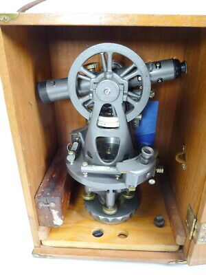 Wow! Brunson Old MarineTheodolite Jig Transit Scope Square Collector Item Museum
