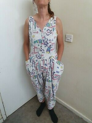 Vintage 1980s Jumpsuit Size 14 made by task one.